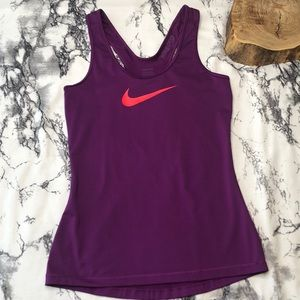 Nike Purple Racerback with Pink Chest Logo Small